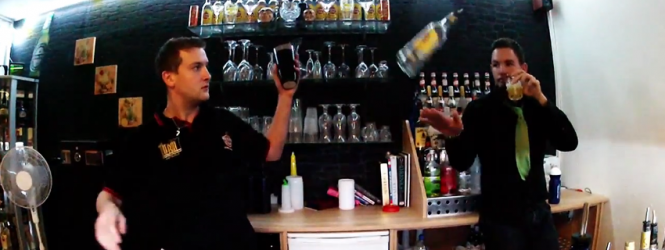 Flair Bartenders Use 14ME14U for Video | Viewsday